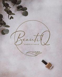 Logo // BeautiQ // Nail Studio // Nagelstudio // B. - Logo // BeautiQ // Nail Studio // Nagelstudio // B. Schönheitssalon Logo, Spa Logo, Cosmetic Logo, Nagellack Design, Nail Logo, Beauty Salon Logo, Studio Logo, Studio Studio, Studio Design