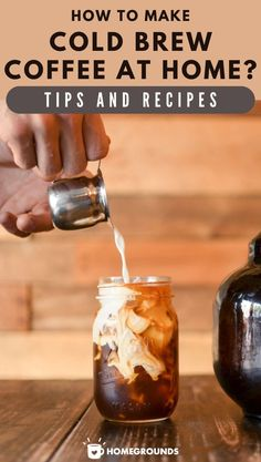 Click Here to Learn How To Make Cold Brew Coffee, Plus common mistakes and Other Tips. Dont Forget To Grab This FREE Cold Brew Recipes E-book... #coffee #cold #diy Cold Drip Coffee Maker, Diy Cold Brew Coffee, Cold Brew Coffee Recipe, Easy Coffee, How To Make Coffee, Coffee Recipes, Drink Recipes, Coffee Drinks, Iced Coffee