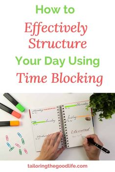 Time Blocking is a great way to structure your day. Here you can read the great benefits and how to get started with Time Blocking. Daily Routine Schedule, Daily Routines, Can Plan, How To Plan, How To Make Notes, How To Get, How To Focus Better, Raising Teenagers, Do What You Want