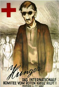 Poster by Otto Baumberger, 1943, Hunger.