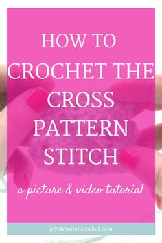 How to crochet the cross pattern stitch | crochet instructions |  crochet stitch |  Crochet Stitch Guide |  crochet stitch tutorial |  Different Crochet Stitch |  How to do crochet stitch |  Interesting Crochet Stitch | learn crochet | learn to crochet |  Pretty Crochet Stitch |  Textured Crochet Stitch |  how to crochet the cross pattern sittch |  cross pattern crochet stitch |  crochet tutorial with video |  Free Crochet Tutorials |  Free crochet tutorial |  Free Crochet Guides |  Easy…