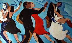 Tango Painting - Salle De Danse by Valerie Vescovi