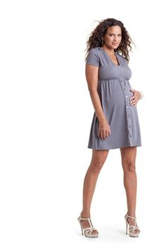 Tiffany Burress: Joiful Maternity Grey Dress