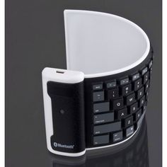 iPhone/iPad Full Size Roll Up Flexible Wireless Keyboard.