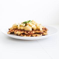 low fodmap vafler med myntemarineret ananas