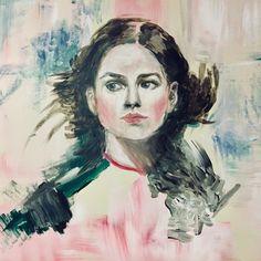 Work in progress (ElinArt - August My study of Irene Sheri -acrylic painting American Artists, Irene, Study, Painting, Fictional Characters, Instagram, Studio, Painting Art, Paintings