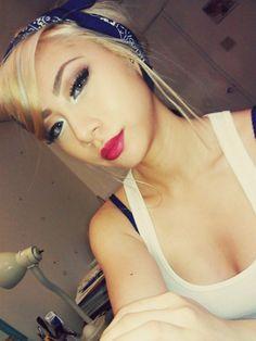 Pin Up Makeup & Hair Style!  How to Wear Matte Makeup