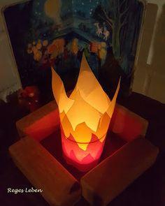 "Teelichthülle ""Feuer"""