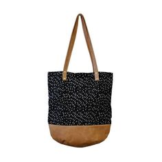 Fully Lined genuine leather based bag. Two inner pockets for easy storage of small items. Has a sturdy brass zip closure. Beautiful brass studs and Black Print, Minimalist Fashion, Leather Shoulder Bag, Black Leather, Leather Bag, Straw Bag, Bucket Bag, Bag Accessories, Studs