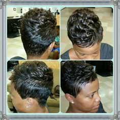 This relaxed black hairstyles truly are trendy Short Sassy Hair, Short Hair Cuts, Short Hair Styles, Pixie Cuts, Pixie Styles, Short Pixie, Cute Hairstyles For Short Hair, Girl Hairstyles, Grey Hairstyle