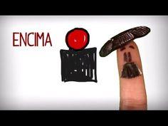 Las preposiciones de lugar en español. Un divertido vídeo para aprender a decir donde está las cosas: encima, debajo, dentro, fuera..