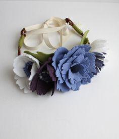 Felt Flower Crown. Boho Flower Crown. Bridal by TheFloralFoundry