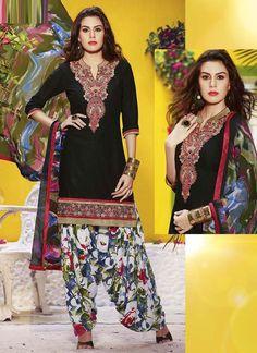 Shop Online Black Cotton #PatialaSuit @Chennaistore.com