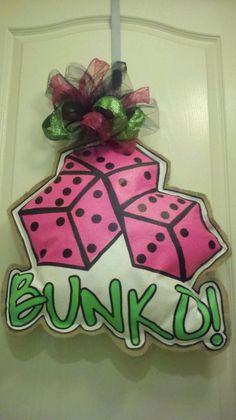 Bunko door hanger from GracieBug Designs on FB