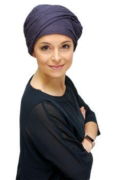 5e626423084 elegant purple chemo hat turban Hats For Cancer Patients