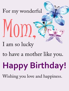 Lovely flower happy birthday wishes card for mom birthdays for my wonderful mom birthday card birthday wishes for mother happy birthday for her m4hsunfo