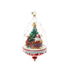 Christopher Radko Ornaments   Radko Santa Claus Clear Sledding Ahead 1018710