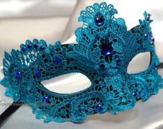 Beautiful Lace Masquerade Mask- Venetian Mask Brocade Lace Masquerade Ball Mask