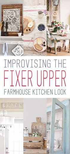 Vintage Farmhouse Decor Improvising The Fixer Upper Farmhouse Kitchen Look - The Cottage Market - Want to get that fabulous Farmhouse Kitchen look in your own home but you don't have the budget for a full reno? Well then check out our quick easy ideas Farmhouse Chic, Country Farmhouse, Country Decor, Rustic Decor, Country Kitchen, Urban Farmhouse, Farmhouse Kitchens, Modern Kitchens, Rustic Table