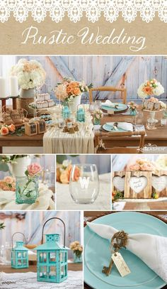 Nothing says romance quite like a rustic wedding. Get inspired by these burlap, woodgrain and lace favors!