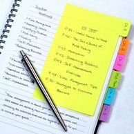 What an awesome idea! Makes a regular spiral into a divided book. Could use this for taking college notes, in a planner, bullet journal or smashbook. Redi-Tag Divider Sticky Notes 60 Ruled Notes, 4 x 6 Inches AD College Problems, School Notes, College Notes, Law School, School Office, High School, Buy Office, Class Notes, Office Set