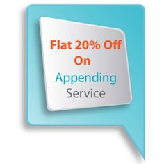 Refresh your list with Flat 20% off on the most current #data available to save time and money.