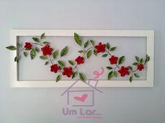 Um lar...: Reciclando: Quadro com rosas de lata!!!!