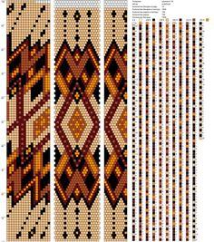 18 around bead crochet pattern (Жгуты из бисера ✜ Вязание с бисером ✜ Схемы   VK)