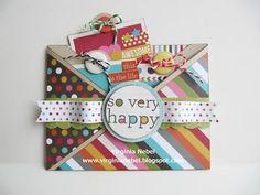 Double pocket criss-cross card by Virginia Nebel