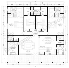 Barndominium Floor Plans with 2 Master Suites – What to Consider Floor Plans 2 Story, House Plans 2 Story, Metal House Plans, House Layout Plans, Barn House Plans, One Story Homes, Dream House Plans, Story House, House Layouts