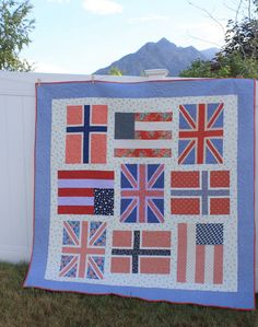 Diary of a Quilter - a quilt blog: Blogger's Quilt Festival - A festive flag quilt