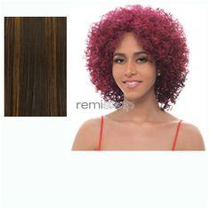 New Easy Quick Half Wig Elino  - Color FS1B/30 - Synthetic (Curling Iron Safe) Half Wig