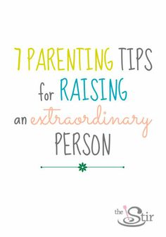 Not just extraordinary kids, extraordinary people. http://thestir.cafemom.com/big_kid/173034/6_things_every_parent_can?utm_medium=smutm_source=pinterestutm_content=thestir