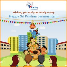 Realityinfra.com Wishing you and your family a very happy Janmashtami