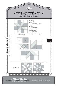 Fort Worth Fabric Studio: Moda Sampler Block Shuffle {Block 3}