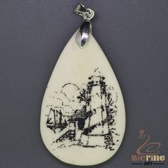 CREATIVE UNIQUE CARVED LIGHTHOUSE PENDANT NECKLACE ZL202951 #ZL #Pendant