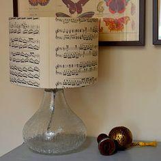 Vintage Music Lampshade