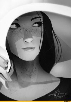 арт барышня,арт девушка, art барышня, art девушка,,красивые картинки,Kurt Chang