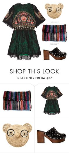 """Vintage Dress"" by dragananovcic ❤ liked on Polyvore featuring One Vintage, Anne-Claire Petit, Marc by Marc Jacobs and vintage"