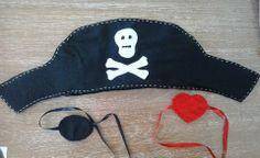 Festa Pirata - Kit chapéu + tapa-olho
