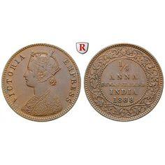 Indien, Dewas, Victoria, 1/4 Anna 1888, f.vz: Victoria 1837-1901. Kupfer-1/4 Anna 1888. KM 12; fast vorzüglich, Kratzer auf Vs.;… #coins
