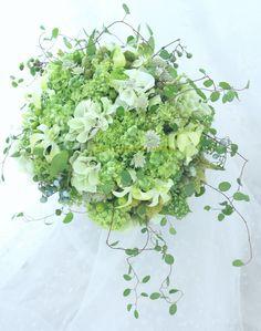 緑のクラッチブーケ コルディアーレ麻布様へ 2シェア : 一会 ウエディングの花