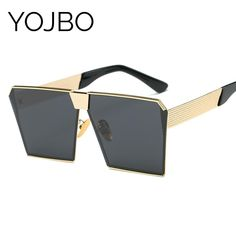 fbe1ed949c5e YOJBO Polarized Mirror Sunglasses Women 2018 Fashion Retro Sun Glasses  Oversized Square Vintage Brand Designer Glasses