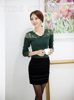 Beautiful Fashion Three Color Patchwork Slim Lace T-shirt  http://www.tidestore.com/product/Fashion-Three-Color-Patchwork-Slim-Lace-T-Shirt-10990628.html