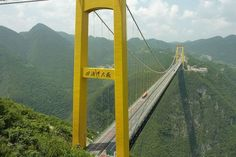 This highest bridge in the world spans such a great chasm that it had to be established using rockets.