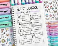 Bullet Journal Key Symbols and Ideas Page Layout. Bullet Journal Key Symbols and Ideas Page Layout. The post Bullet Journal Key Symbols and Ideas Page Layout. appeared first on Raumteiler ideen. Key Bullet Journal, Bullet Journal First Page, Bullet Journal Titles, Bullet Journal Aesthetic, Bullet Journal Cheat Sheet, Bullet Journal Ideas Templates, Bullet Journal Savings, Handwriting, Videos