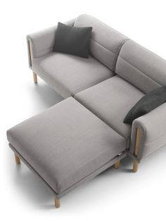 Seating with Upholstery That Wraps Itself Around the Frame Like a Blanket - Design Milk