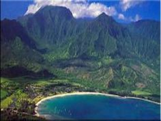 Hanalei, Kauai...you can really see how close the mountains are...love it when the water falls of them...