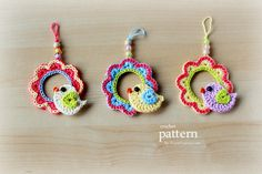 Crochet Pattern - A Little Crochet Bird Sitting On a Wreath Ornament - Pattern With Step-by-Step Picture Tutorial. $3,50, via Etsy.