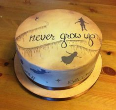 Peter Pan cake - IN. This will be my birthday cake. Peter Pan Cakes, Peter Pan Party, 18th Birthday Cake, Happy Birthday, Disney Birthday, Birthday Ideas, Peter Pan Disney, Painted Cakes, Novelty Cakes